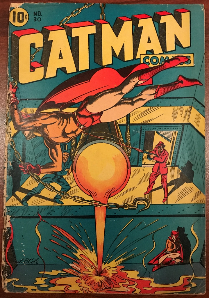 Golden Age Catman Cover by L.B. Cole