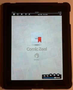 Comic Zeal iPad Splash Screen