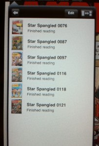"Comic Zeal ""comic box"" sub menu"