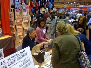 Signing Calendars at the Baltimore Comic Con