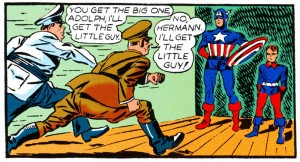 Cap and Bucky Meet Hitler and Goering