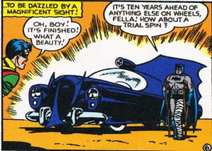 """The Batmobile of 1950"" from Detective Comics #156 (1950)"