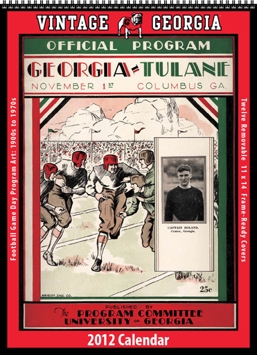 2012 Vintage University of Georgia Football Calendar