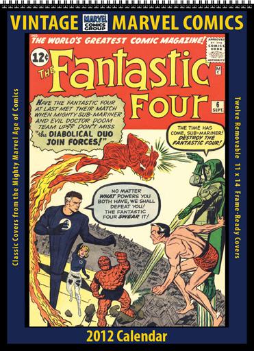 2012 Vintage Marvel Comics Calendar
