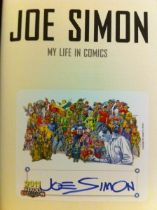 Joe Simon autographed bookplate
