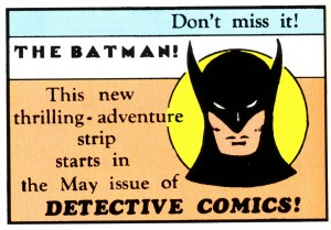 Ad for Detective Comics #27 from Action Comics #12 (1939)