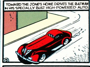 Batman's first car from Detective Comics #30 (1939)