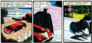 "Batman's ""high powered"" car from Detective Comics #33 (1939)"