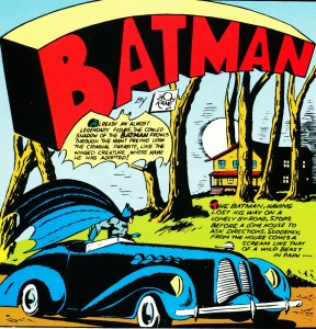 Batman's black convertible from Detective Comics #37 (1940)